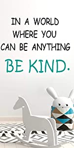 be kind wall decals