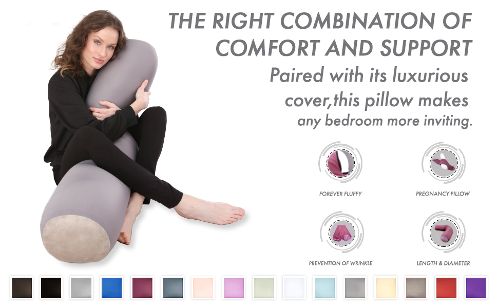 Microbead Bolster Neck Roll Pillow, Gently On Body, Head, Neck amp; Shoulders No Pain Rest, Relax Sleep