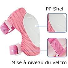U Yoo Sets de Protection Roller Enfant Kit de Protection 7 en 1 Casque Genouill/ères Coudi/ères Prot/ège-Poignets R/églables pour Skateboard Cyclisme Trottinette