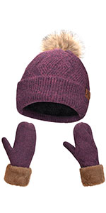 hat and mittens for women