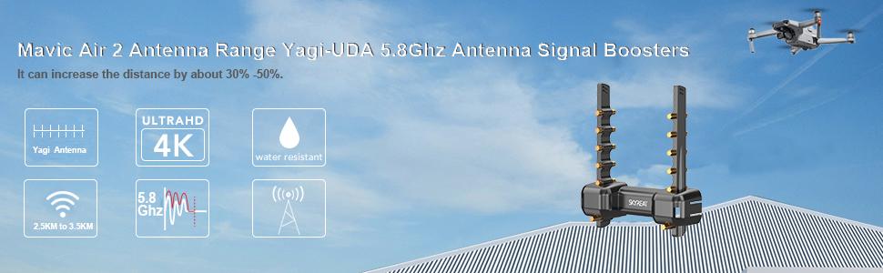 SKYREAT Mini 2 / Mavic Air 2 Antenna Range Extender Yagi-UDA Signal Boosters para DJI Mini 2 / Mavic Air 2 dron Accesorios específicos 5.8Ghz