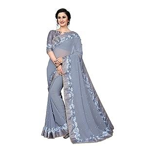 Saree Saree for Women Latest Design Georgette Saree Fancy Saree Wedding Saree Party saree for women