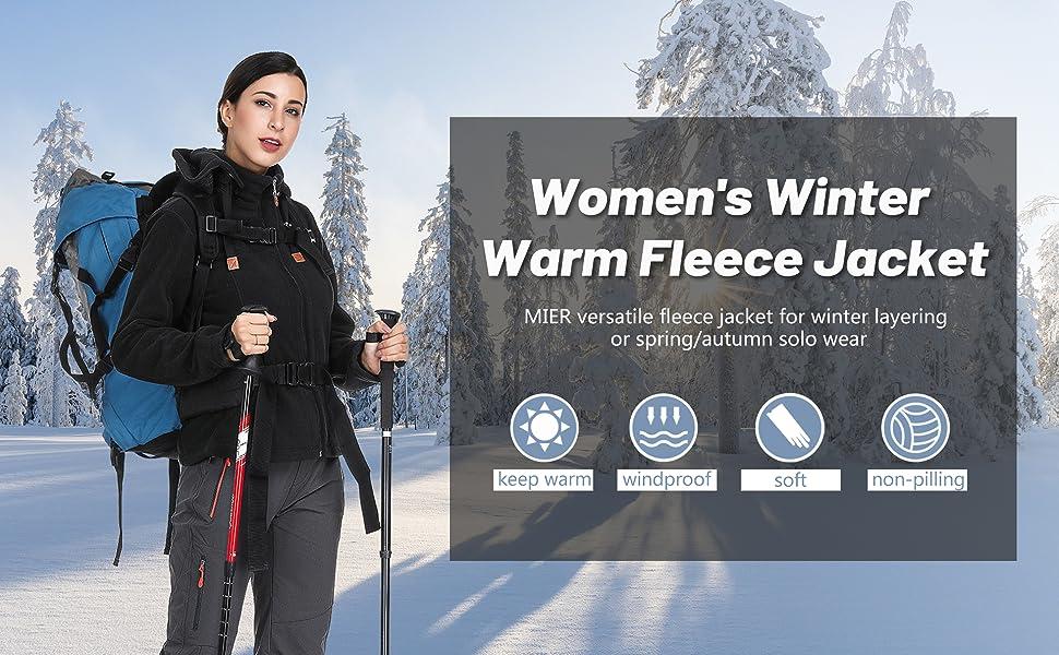 women's fleece jackets with warm hood