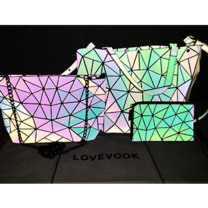 Holographic Reflactive Crossbody Bag set