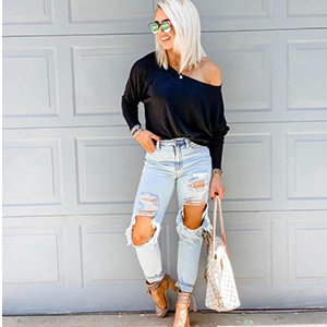 Women's Off Shoulder Tops Casual Loose Batwing Sleeve Shirts Tunic Knit Oversized Pullover sweater