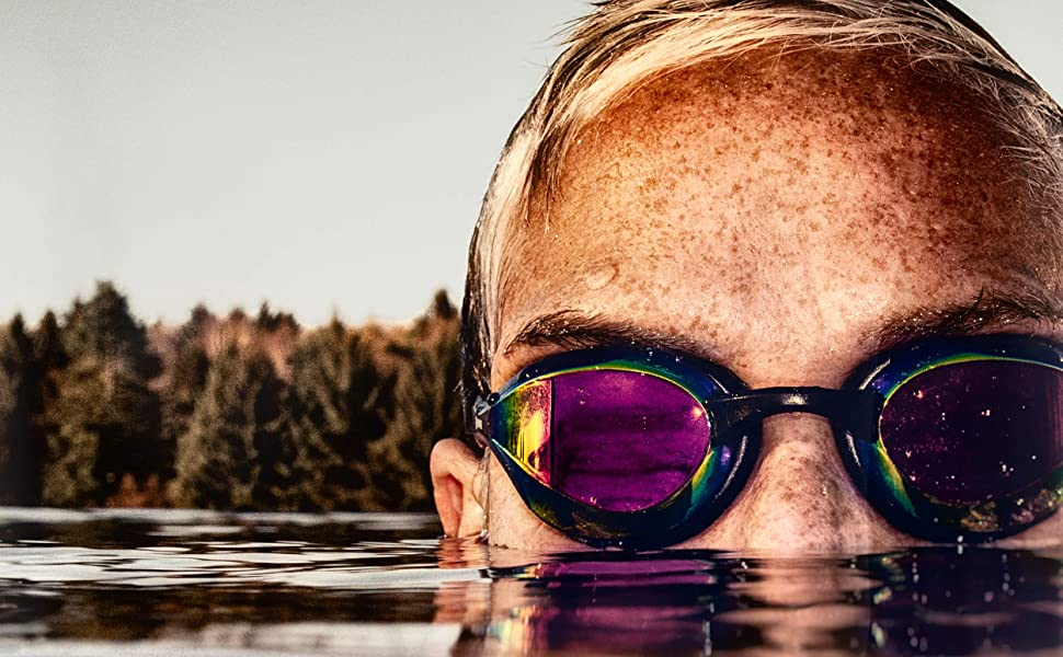 Swim Goggles by New Wave Swim Buoy with Extended Gasket for adults similar to Speedo vanquisher