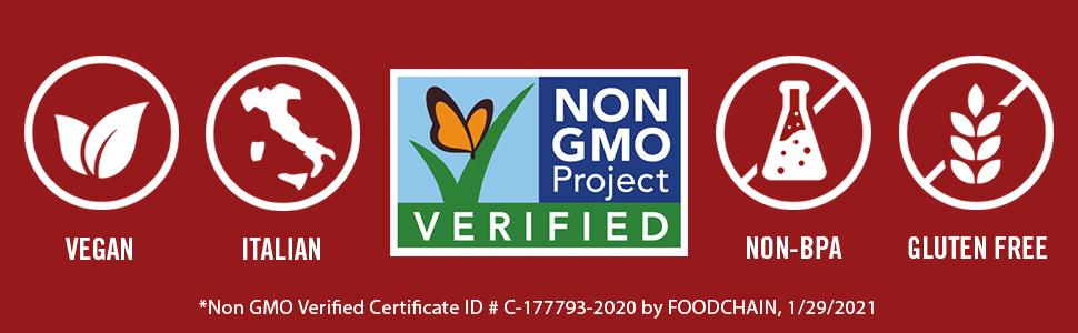 mutti verified by Non GMO Project 2021