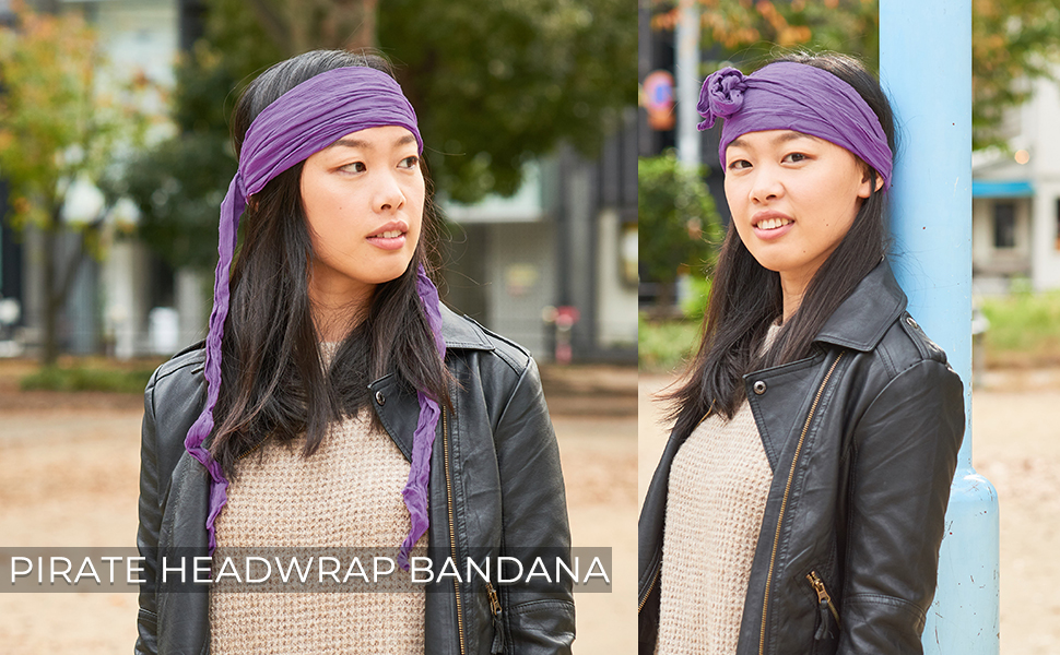 ladies headwrap costume cosplay ninja samurai hippie hippy festival party bow accessory