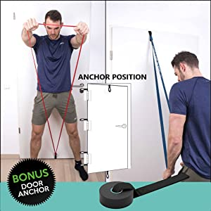 Door Anchor included for additional exercises