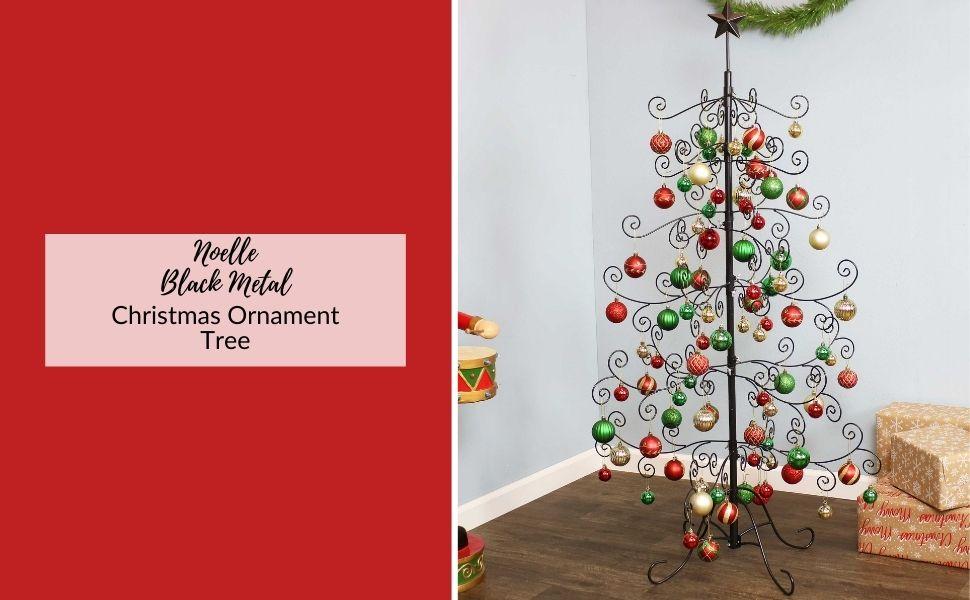 ornament tree, ornament stand, ornament hanger, ornament hooks, metal tree, metal stand, ornaments