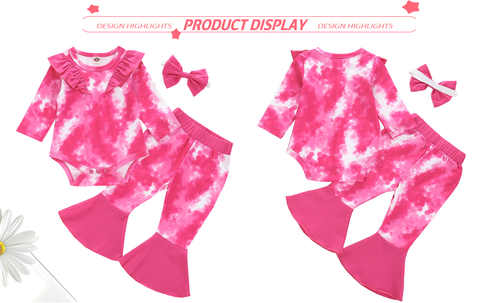 tie dye romper for baby girls