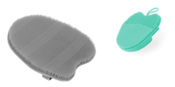 silicone facial brush body scrubber face scrub exfoliator glove body brush shower back massage