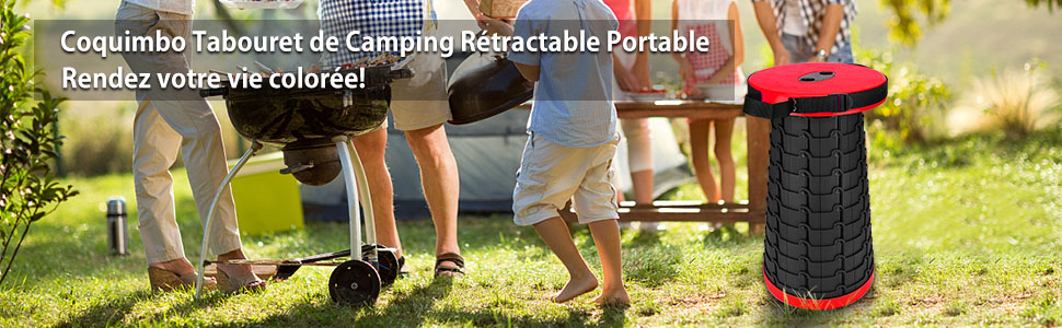 Coquimbo Tabouret de camping portable r/étractable pour enfants adultes randonn/ée p/êche int/érieur camping