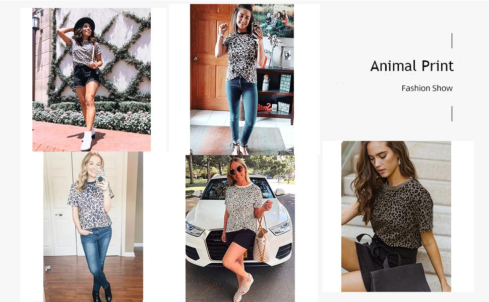animal print tops for women