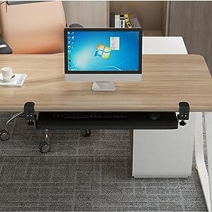 keyboard drawer shelf holder slides