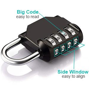 easy to set easy to read reasy to align combination padlock locker padlocks gym lock school lock