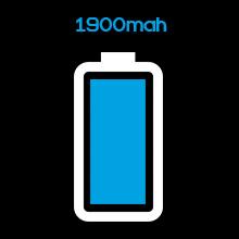 1900mAh battery