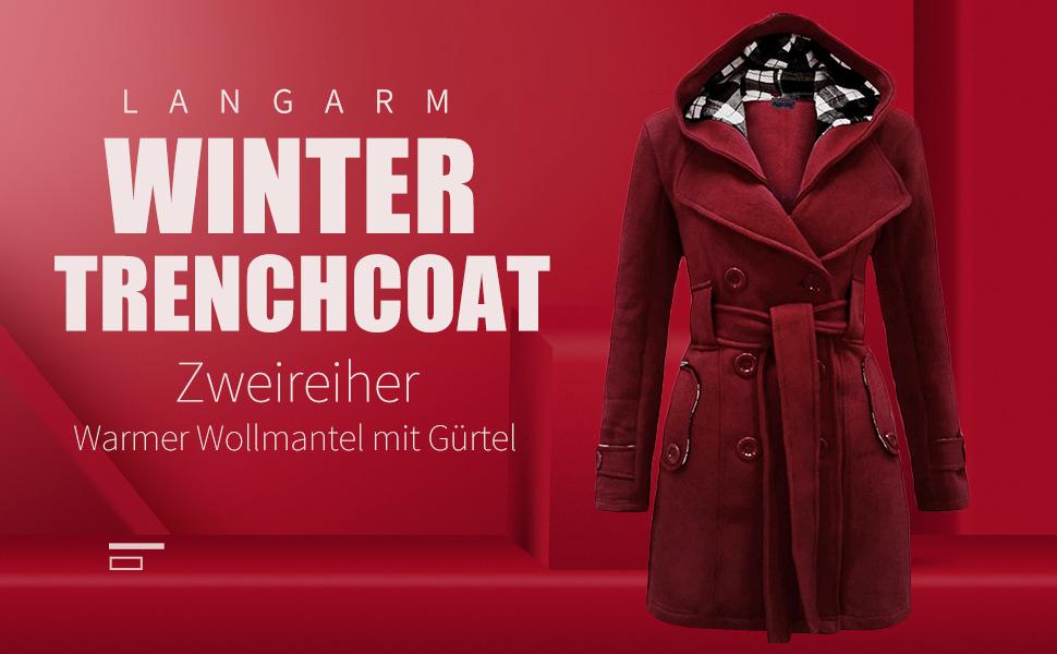 YMING Damen Winter Warme Weste Einfarbige Rei/ßverschluss Weste /Ärmellose Steppjacke Mit Taschen Mantel Mit Abnehmbarer Kapuze 2XS 2XL