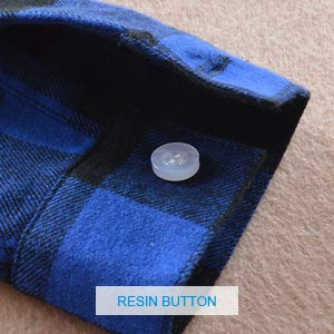 plaid shirt buttoned cuff