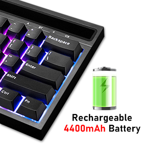 rechargeable gaming keyboard