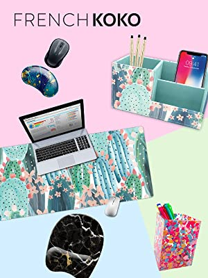 french koko mouse pad pen organizer desk mat mousepad mouse pad office accessory desk organizer haha