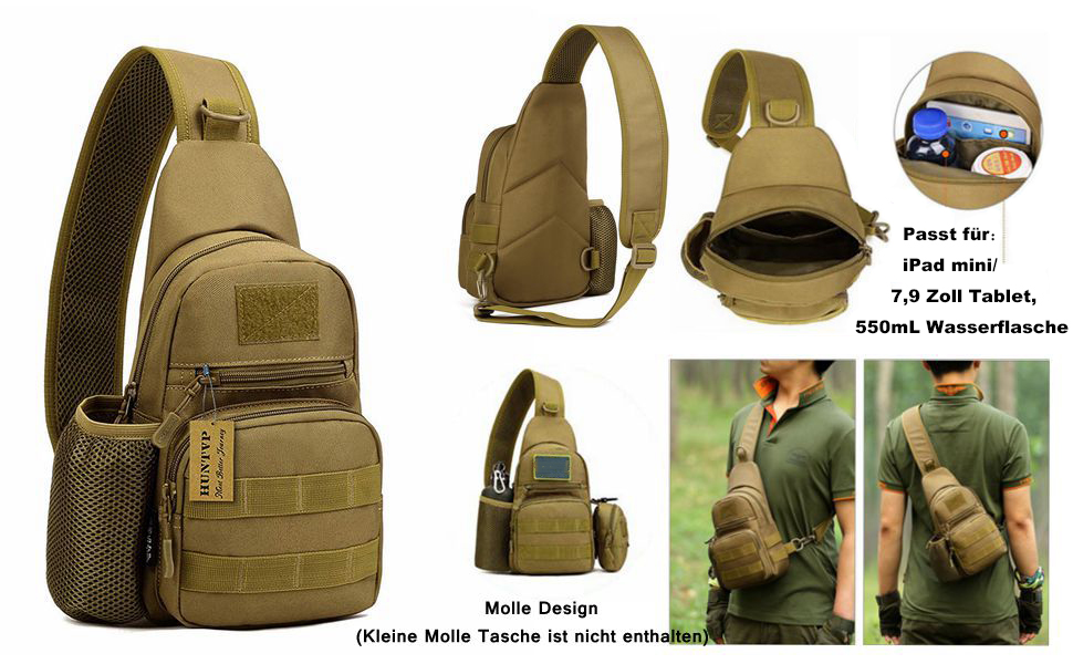 Taktische Umhängetasche Umhängetasche Molle Bag Brusttasche Handtasche