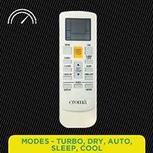 Modes-  Turbo, Dry, Auto, Sleep, Cool