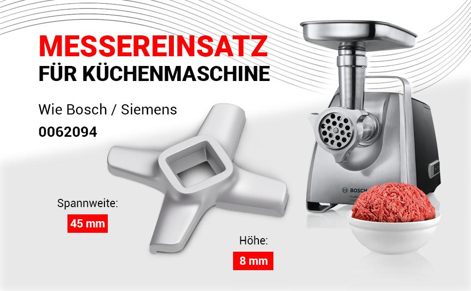 Lame pour robot de cuisine comme Bosch Siemens 00620949.