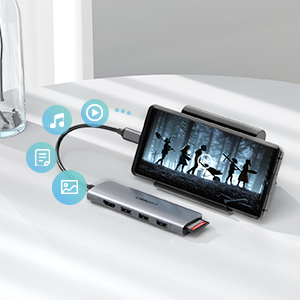 usb c sd card reader dock station