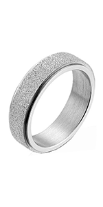 sandblasted spinner rings