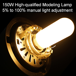 QS800II GODOX QS800II Studio Strobe Flash Light 800Ws Professional Photography Studio Light Monolight 150W Modeling Lamp for Indoor Studio Portrait Photography