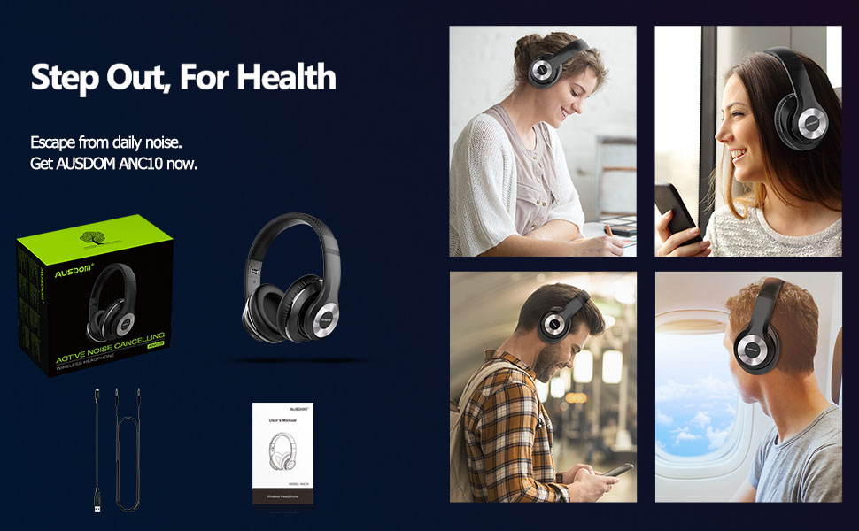 wireless headphones with noise cancellation