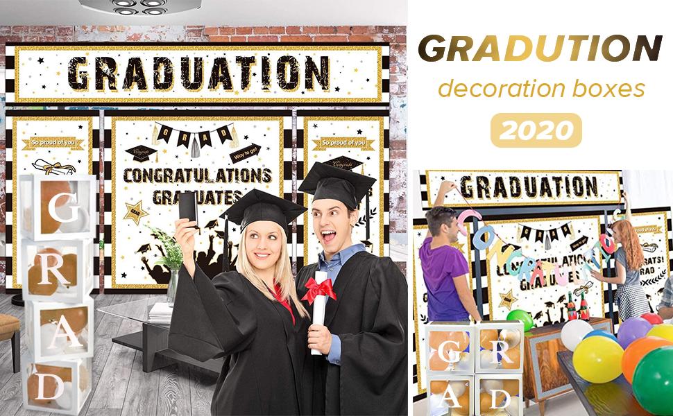 Graduation decorations boxes 2020