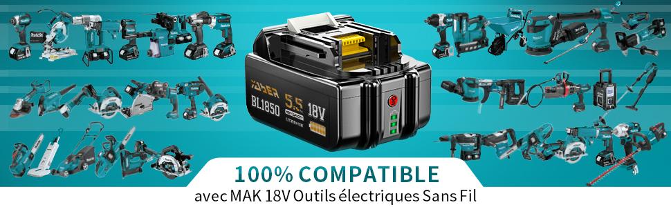 Batterie Remplacement pour Makita