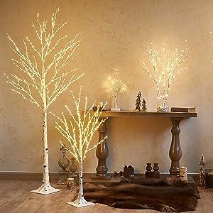 LITBLOOM birch tree lights
