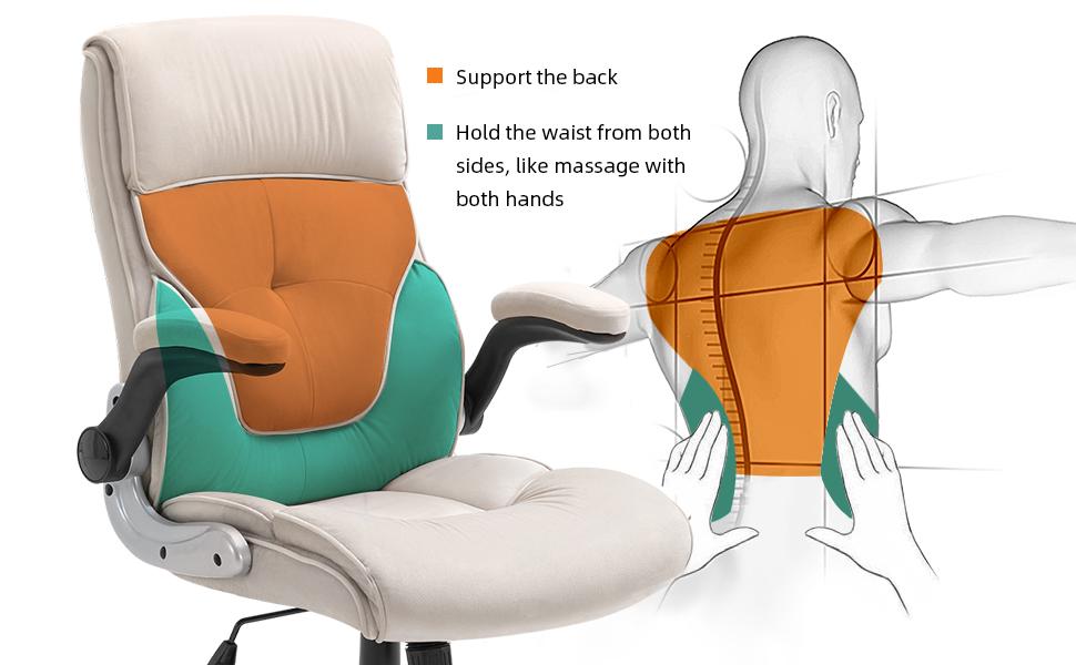 Executive Office Chair Computer Desk Chair Ergonomic Adjustable Racing Chair