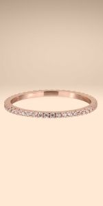 UPSERA Stackable Eternity Ring Band