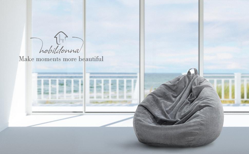 Nobildonna Stuffed Storage Bean Bag Chair