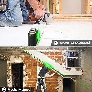 Pendule intelligent: ¡ñEn mode de mise à niveau automatique: Lorsque l'outil dépasse la plage de mise à niveau automatique (±4°), une icône de niveau s'affiche pour vous rappeler. À ce stade, l'outil laser ne fonctionne pas correctement. ¡ñEn mode manuel: Lors de la connexion avec Huepar APP, une icône de verrouillage s'affichera pour rappeler à l'utilisateur que le mode manuel est activé. ¡ñS'il vous plaît comprendre en raison de la conception du dispositif pendule de gravité, ¡ñl'outil laser ne peut pas être mis sous / hors tension via Bluetooth APP. ¡ñle mode de mise à niveau automatique et le mode manuel ne peuvent pas être commutés l'un avec l'autre via Bluetooth APP.