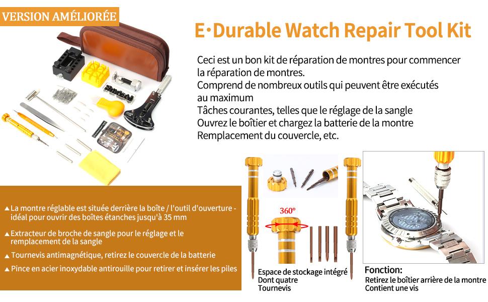 outil montre réparation