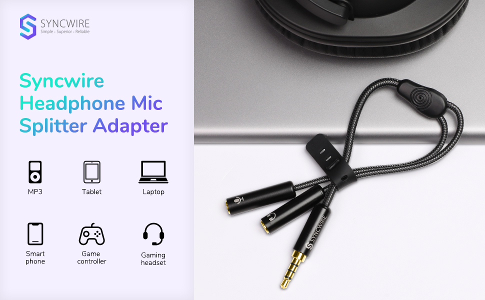 Combo Audio Adaptor Headset splitter