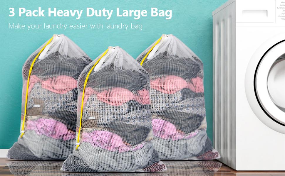 Laundry Mesh Laundry Bag 1er XL 60 x 90 cm with Drawstring Laundry Bag Washing Machine