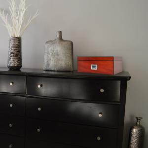 Humidor on cabinet