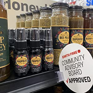 community advisory board approved superfood honey with royal jelly and propolis bee pollen