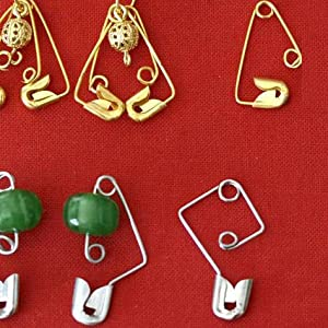 Safety Pins into a variety of earrings