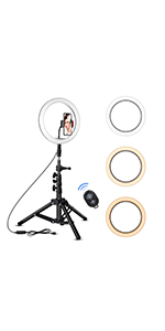 Rovtop 10 Inch Ring Light With Stand