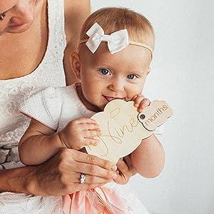 newborn baby pregnancy milestones milestone keepsake gift set babys boy girl monthly blocks new idea