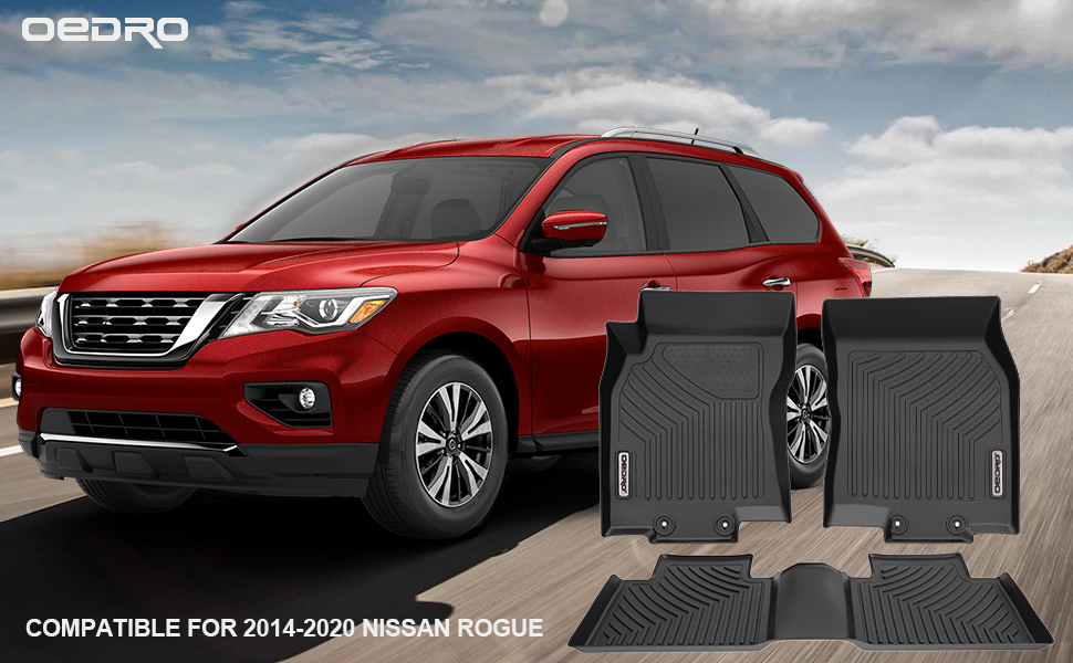 oEdRo Floor Mats Compatible for 2014-2019 Nissan Rogue