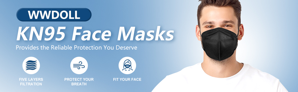 WWDOLL KN95 Face Masks, Provide the comfortable breathing, convenience and pleasurable usage.