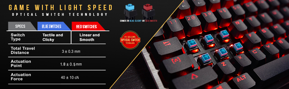 Gaming Keyboard Optical Switch razor deathadder rbg led lighted keyboard chroma lit software bloody